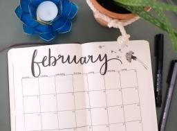Bullet Journal Setup February