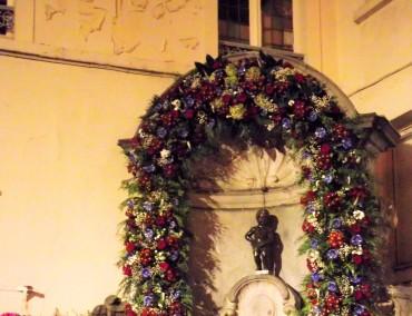 Manneken Pis - das Wahrzeichen von Brüssel (ziemlich klein finde ich) Foto: Haas