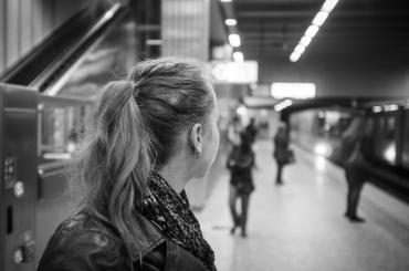 In der Metro - neben der Tram und dem Bus ein tolles Fortbewegungsmittel in Brüssel (Foto: Markus Herkert)